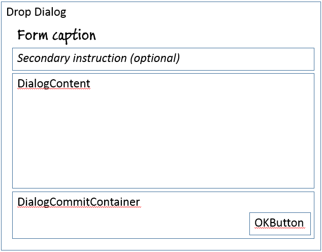 Drop Dialog form pattern - Finance & Operations | Dynamics 365 ...