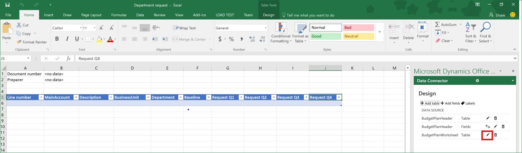 Budgetplanungsvorlagen Fur Excel Finance Dynamics 365 Microsoft Docs