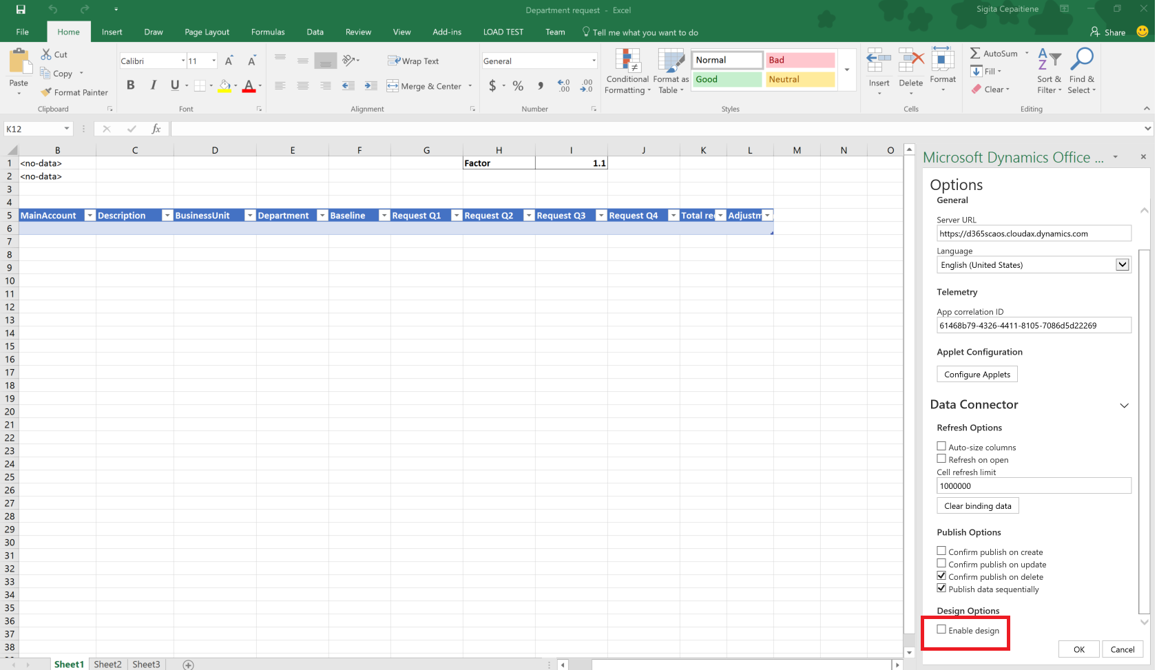 Budgetplanungsvorlage für Excel - Finance & Operations | Dynamics ...