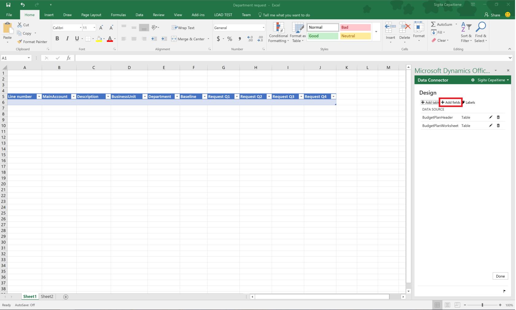 Budgetplanungsvorlage Für Excel Finance Operations Dynamics