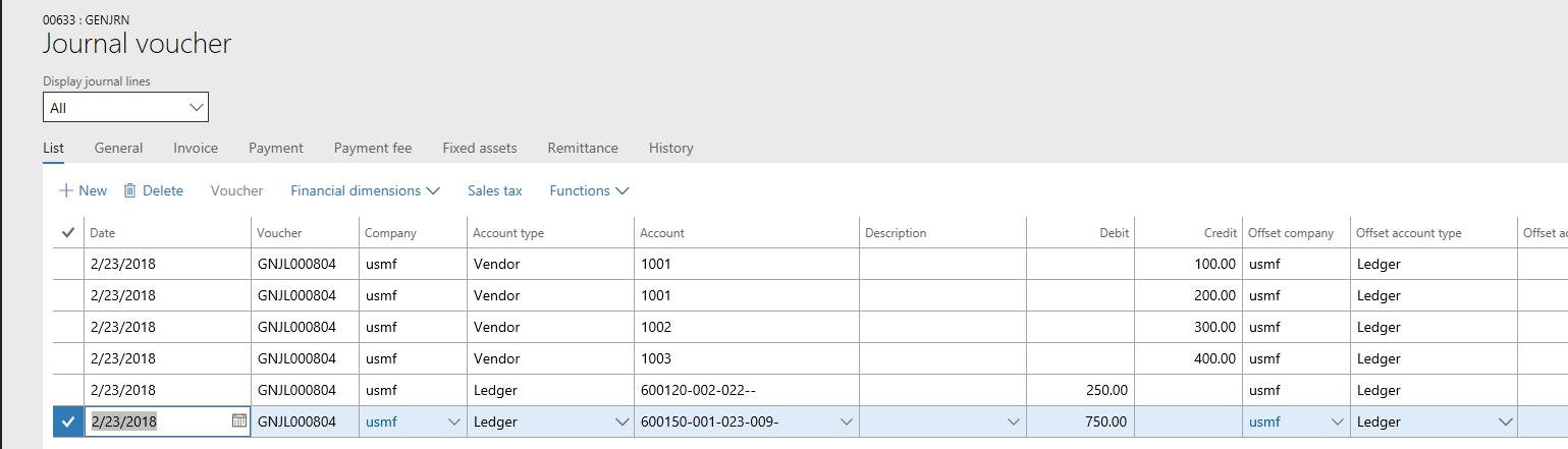 Ein Beleg - Finance & Operations   Dynamics 365   #MSDyn365FO ...