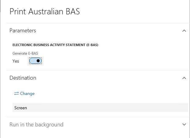 Business activity statement (BAS) - Finance & Operations | Dynamics ...