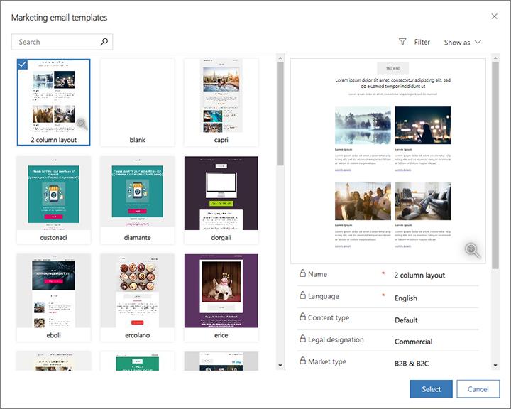 Verwenden des Designertools (Dynamics 365 for Marketing) | Microsoft ...