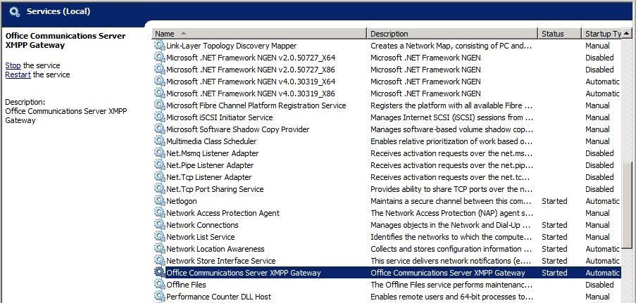 Überprüfen der Office Communications Server 2007 R2 Umgebung ...
