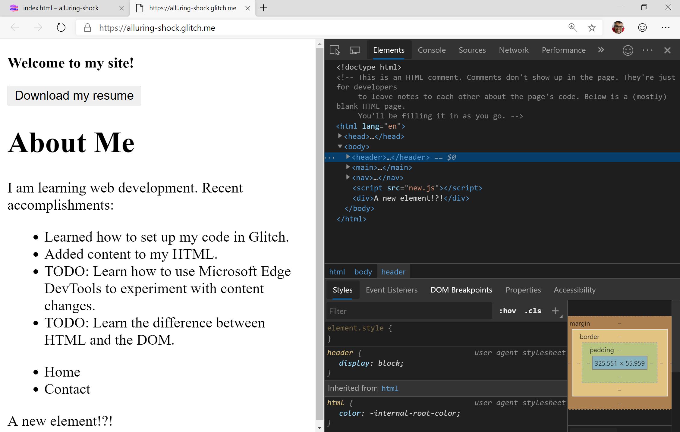 DevTools für Anfänger Erste Schritte mit HTML und dem DOM ...