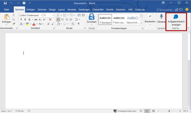 Erstellen Ihres Ersten Word Add Ins Microsoft Docs