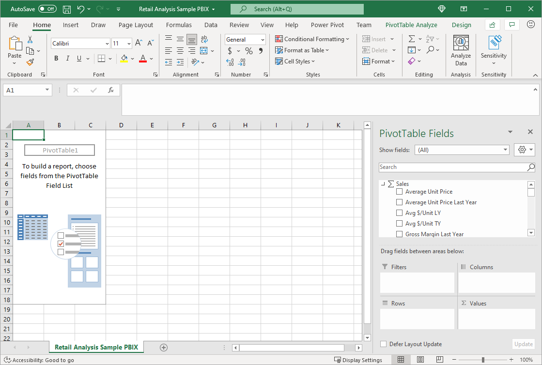 Analysieren in Excel für Power BI   Power BI   Microsoft Docs