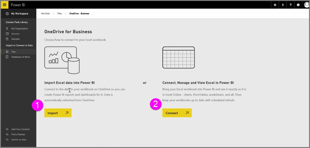 Power BI und Excel - Power BI | Microsoft Docs