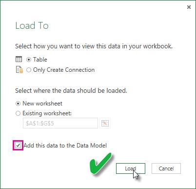 Aktualisieren eines aus einer Excel-Arbeitsmappe erstellten Datasets ...