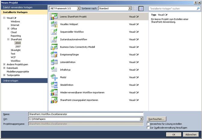Erstellen und Veröffentlichen von Excel 2010-Dokumenten mit ...