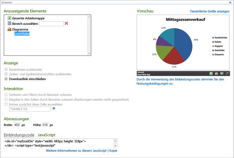 Verwenden der Excel Services-JavaScript-API für eingebettete Excel ...