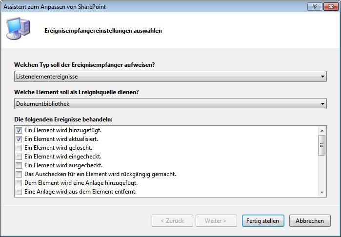 Programmgesteuertes Erstellen von SharePoint 2010-Inhaltstypen mit ...