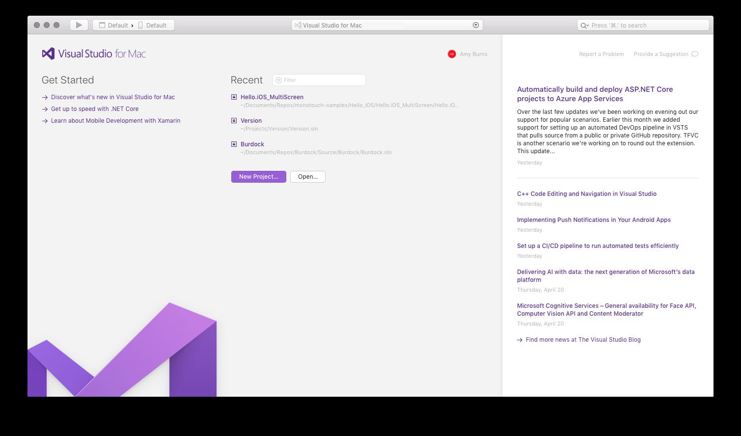 Exemplarische Vorgehensweise: Erweitern von Visual Studio für Mac ...