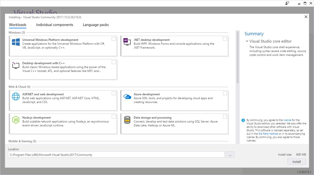 Visual Studio 2017 15.0 – Anmerkungen zu dieser Version | Microsoft Docs