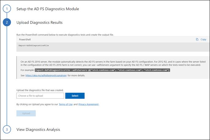 AD FS Help Diagnostics Analyzer | Microsoft Docs