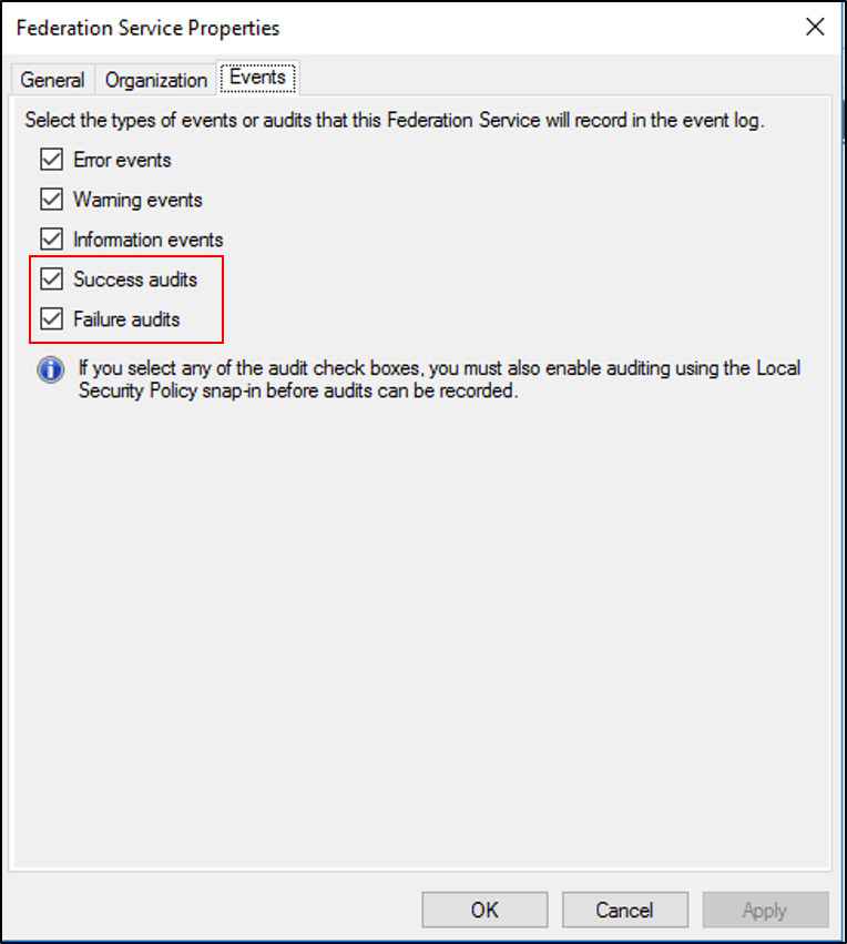 AD FS Troubleshooting - Auditing Events and Logging | Microsoft Docs