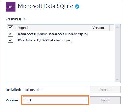Verwenden einer SQLite-Datenbank in einer UWP-App - UWP app ...