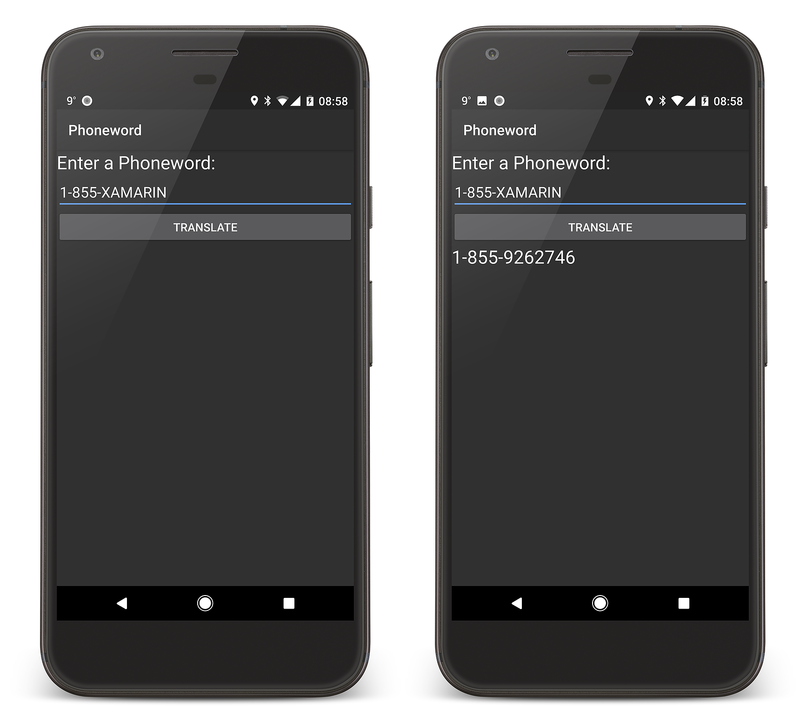 Screenshot der App, wenn sie abgeschlossen ist.