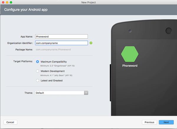 Konfigurieren der Android-App.