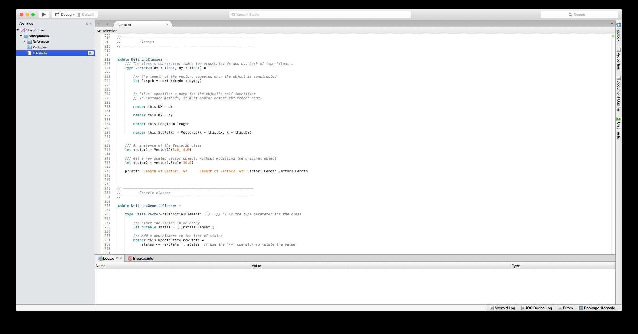 Erste Schritte mit f# - Xamarin | Microsoft Docs