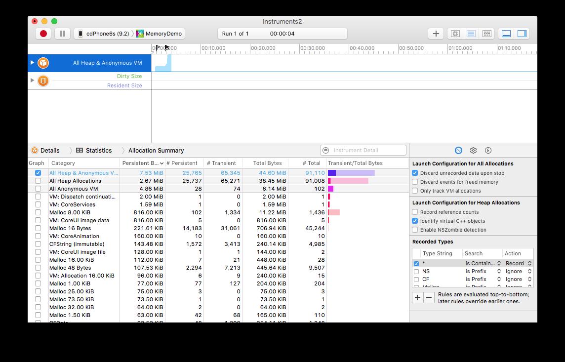 Erstellen von Xamarin.iOS-Anwendungsprofilen mit Instruments ...