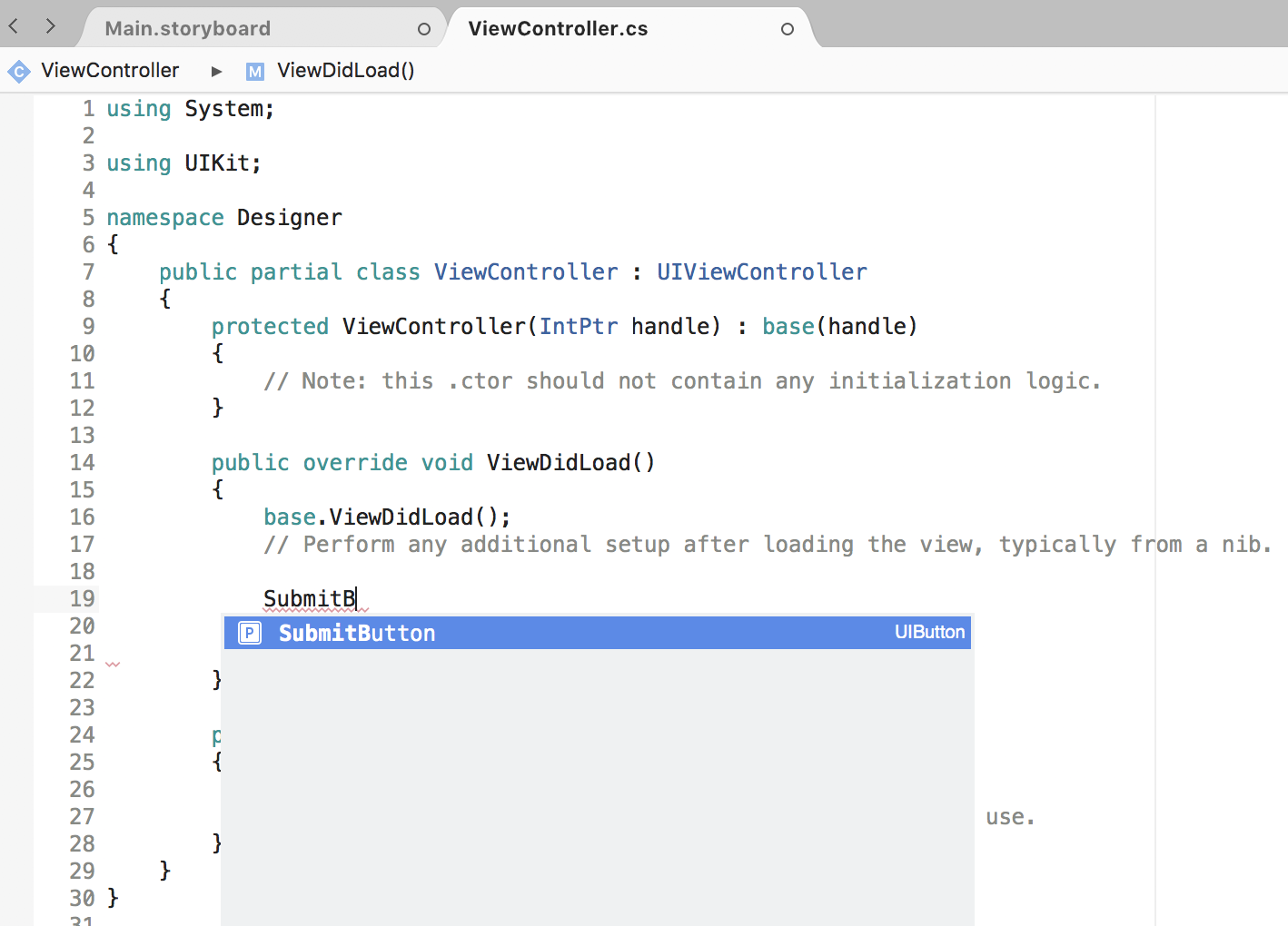 iOS-Designer-Grundlagen - Xamarin | Microsoft Docs