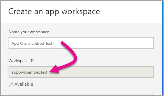 Name Workspace