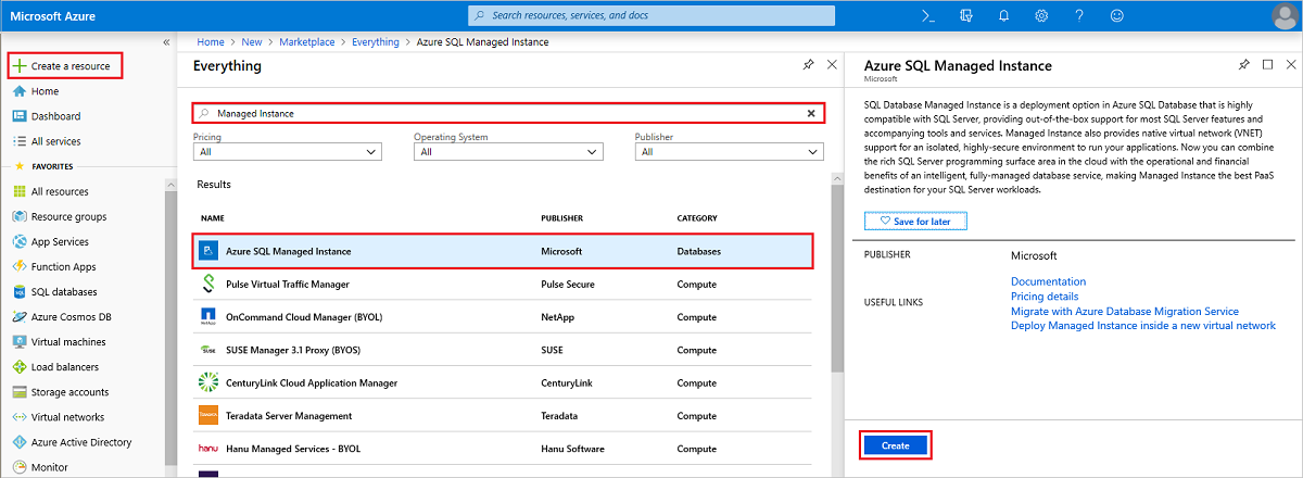how to create table in windows azure sql database