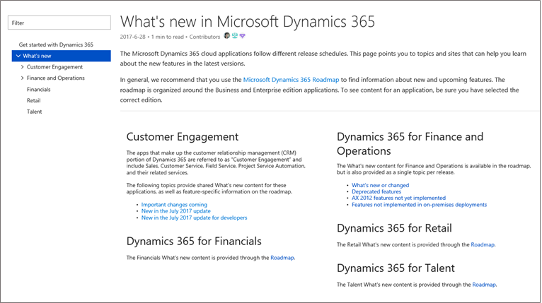 find the content you need on the dynamics 365