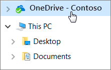 Image showing how to save to OneDrive from Documents folder.