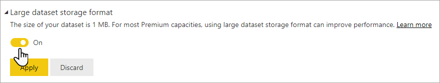 Enable large dataset slider