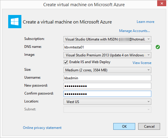 Create a windows virtual machine for a web application microsoft sign in to azure if youre prompted the create virtual machine dialog box appears ccuart Gallery