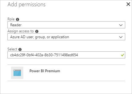 Permissions for Power BI Embedded