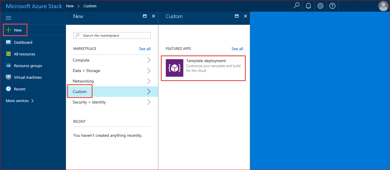 In this tutorial, you create an Azure Stack VM using a template ...