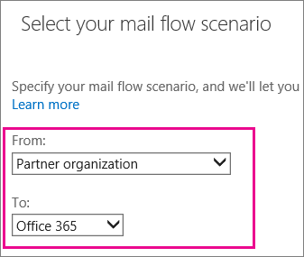 Connector from Partner Organization to Office 365