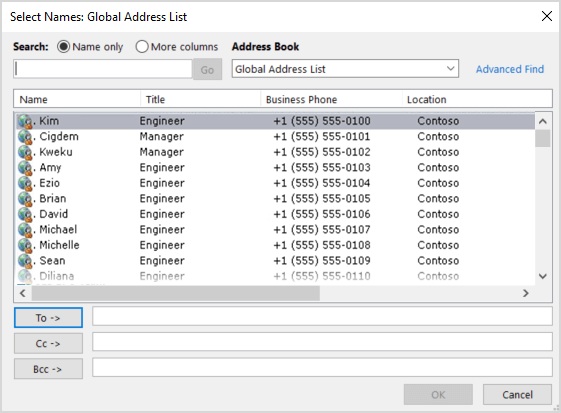 exchange 2016 user not showing in global address list
