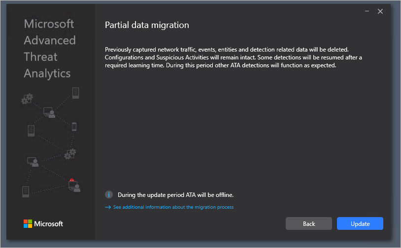 Advanced Threat Analytics update to 1.9 migration guide   Microsoft Docs