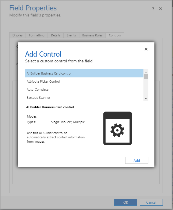 Use The Business Card Reader Component In Model Driven Apps