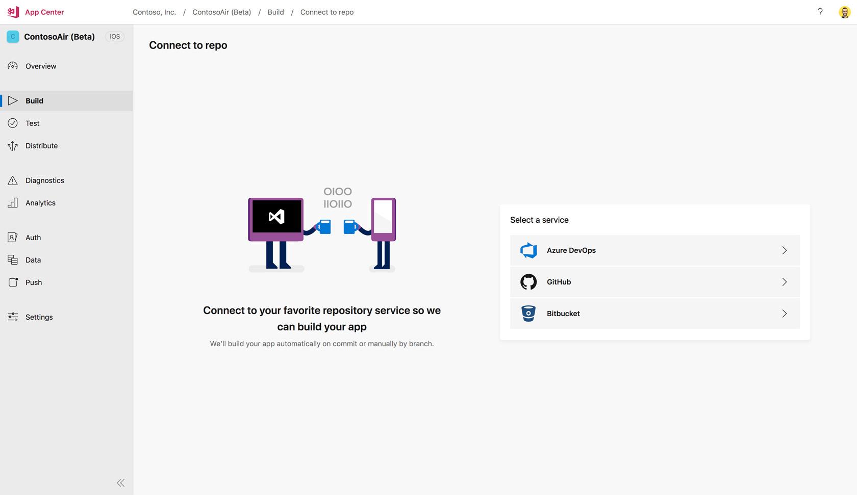 App Center Build - Visual Studio App Center | Microsoft Docs