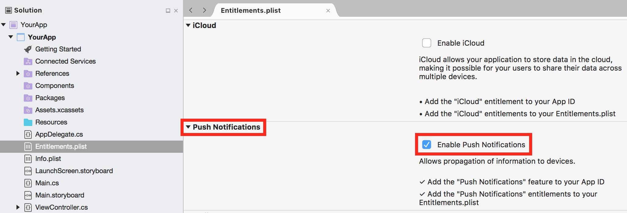 App Center Push for Xamarin iOS Apps - Visual Studio App Center