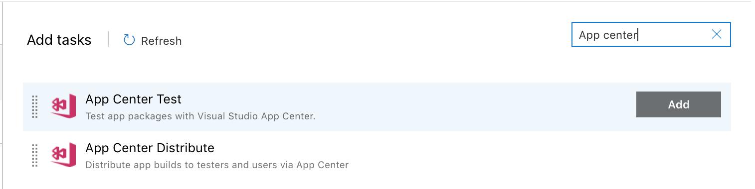 Using Azure DevOps for UI Testing - Visual Studio App Center