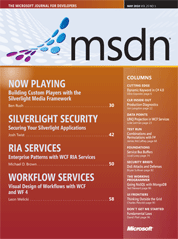 MSDN Magazine May 2010 Issue cover
