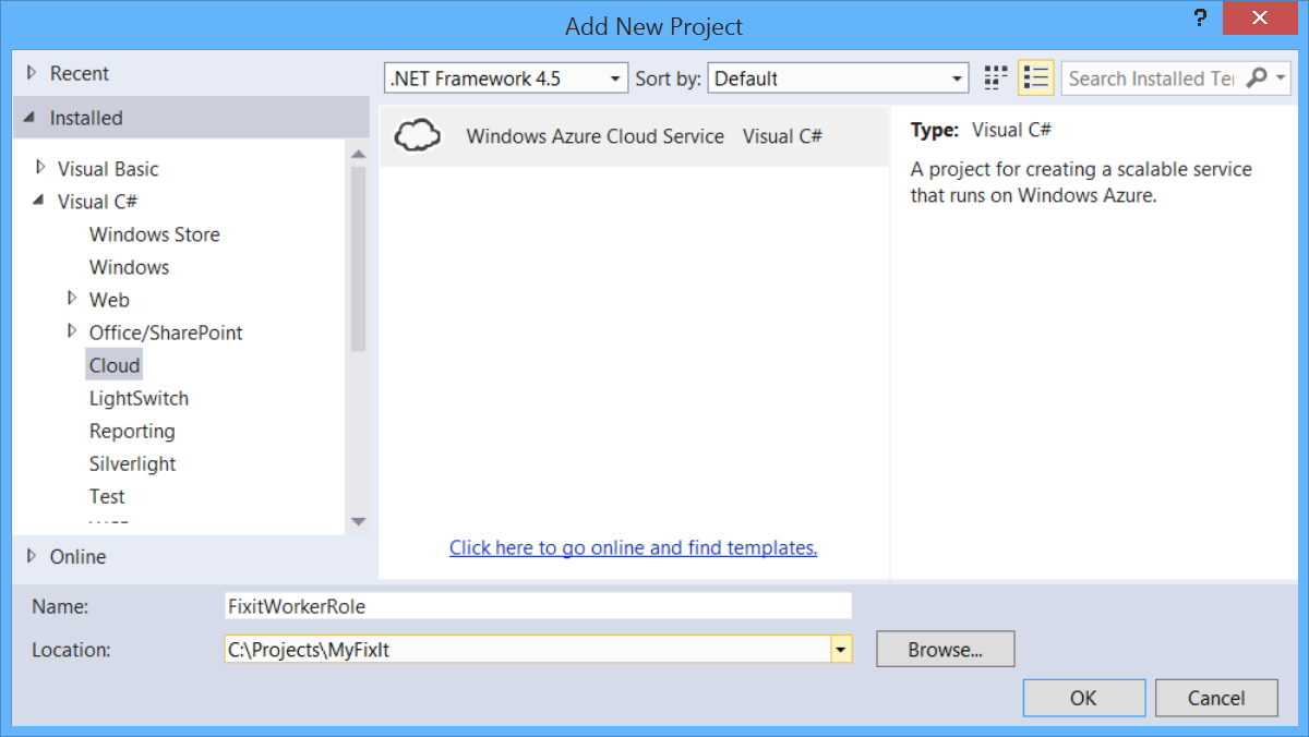 Queue centric work pattern building real world cloud apps with first add a cloud service project to the visual studio solution right click the solution and select add then new project in the left pane expand visual baditri Image collections