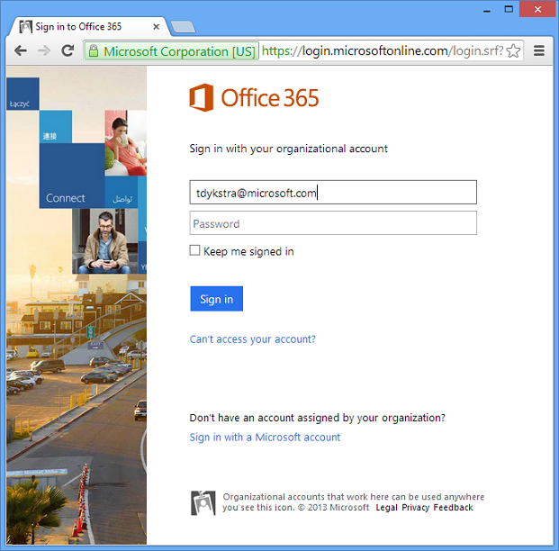 microsoft office 365 sign in