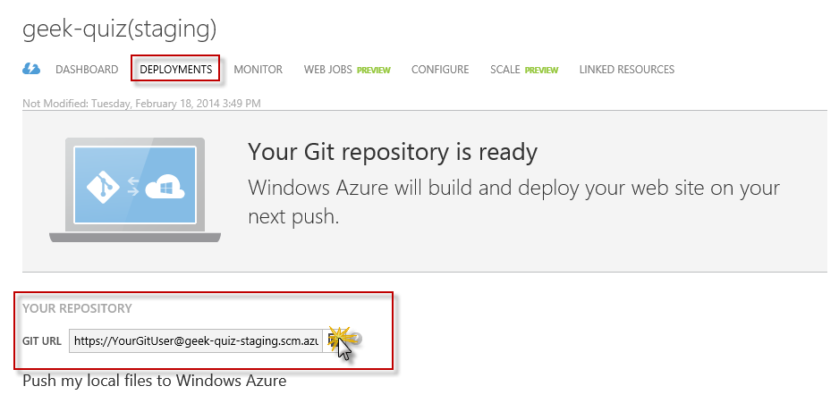 Hands on Lab: Maintainable Azure Websites: Managing Change and Scale