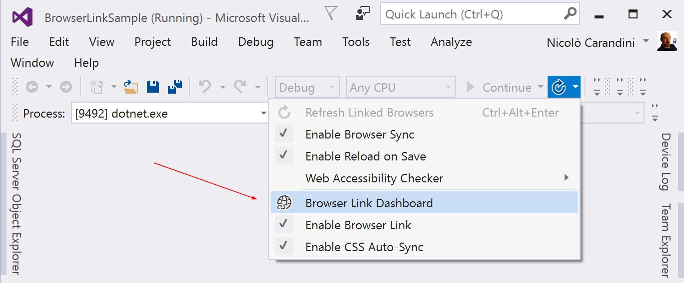 Browser Link in ASP NET Core   Microsoft Docs