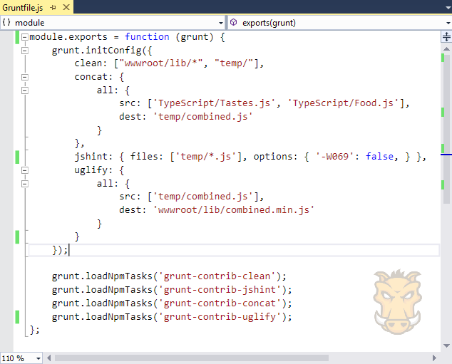 Use Grunt in ASP NET Core | Microsoft Docs