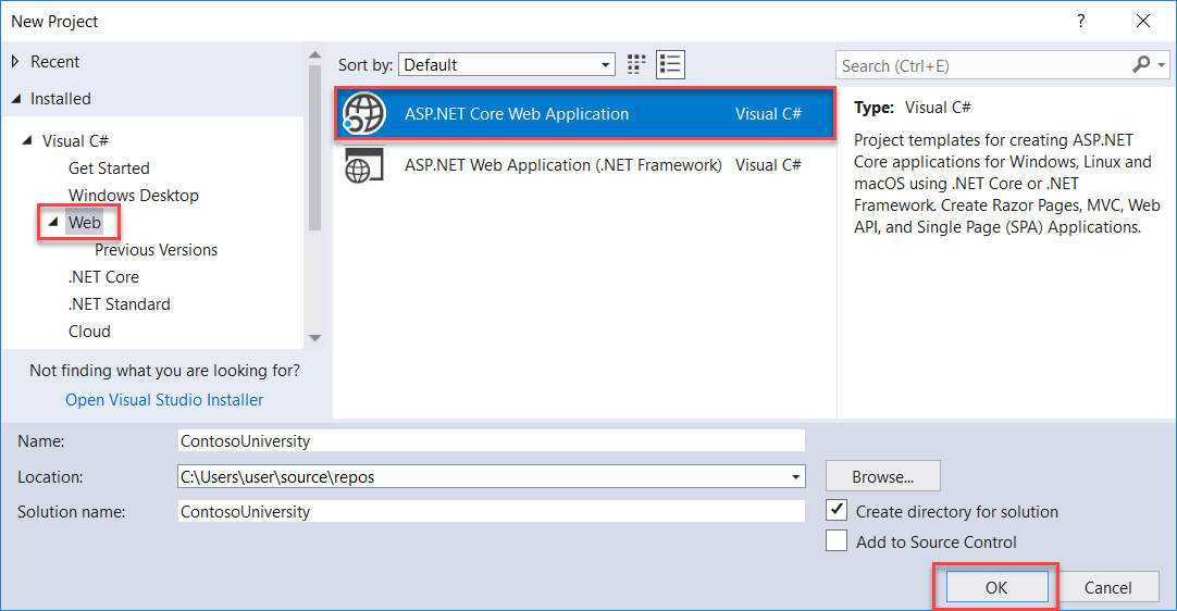 Tutorial: Get started with EF Core in an ASP NET MVC web app