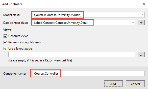 Tutorial: Read related data - ASP NET MVC with EF Core | Microsoft Docs