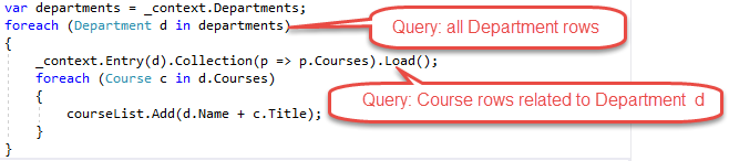 Tutorial: Read related data - ASP NET MVC with EF Core